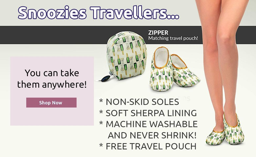 Travel snoozies free pouch