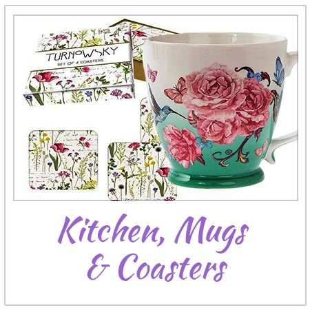 Mugs Coasters and Kitchen Gifts and Products